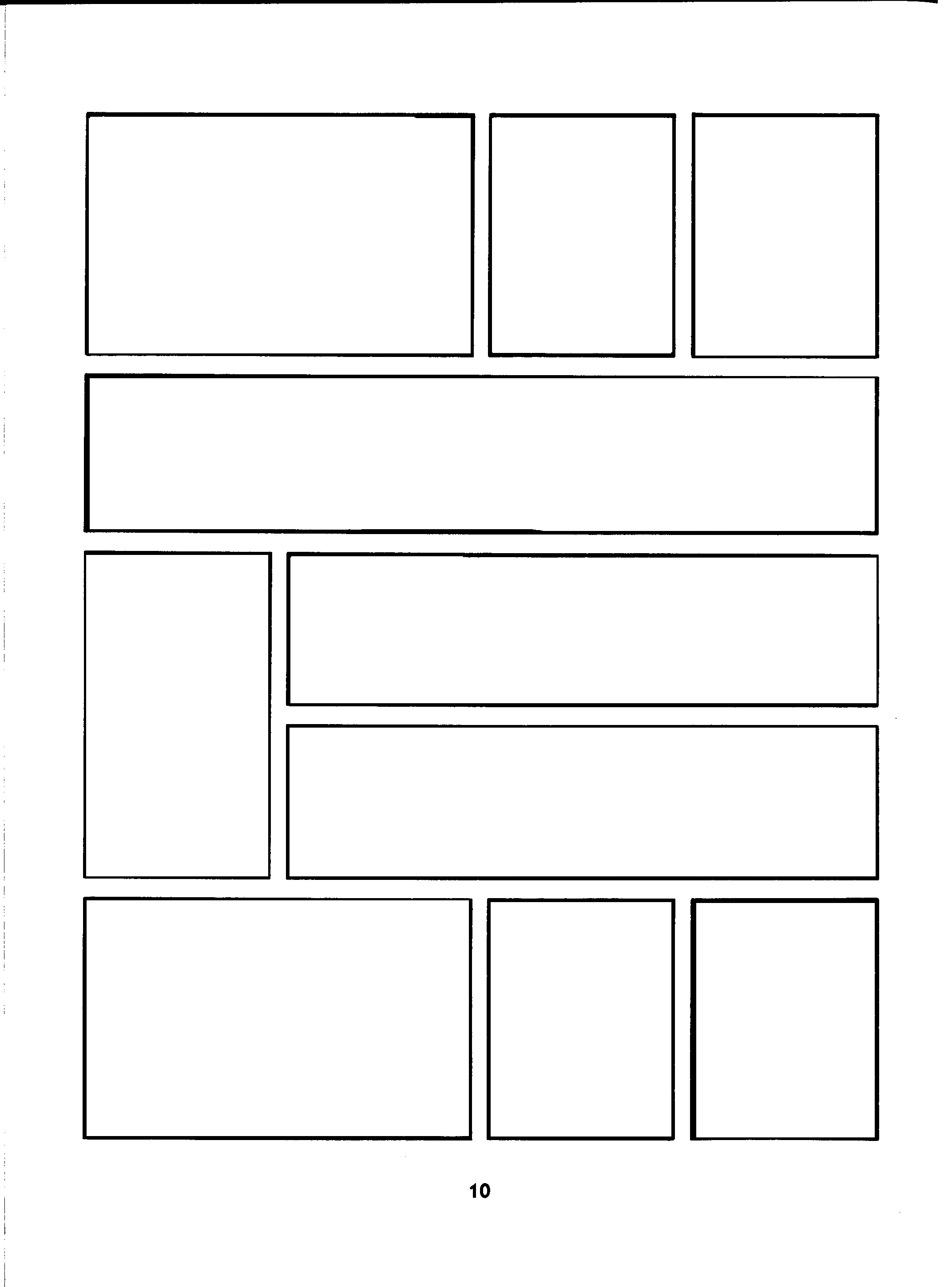 blank comic book layout pages comic template to use